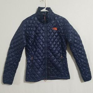 North Face Womens Small Navy Blue Thermoball Coat